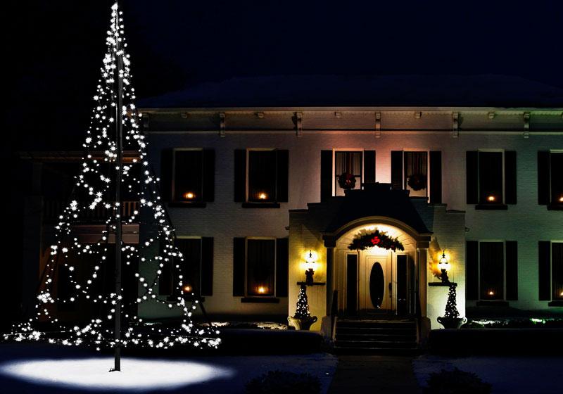 Tannenbaum Netzgerät.Weihnachtliche Beleuchtung Für Ihren Fahnenmast Werbetechnik Aus